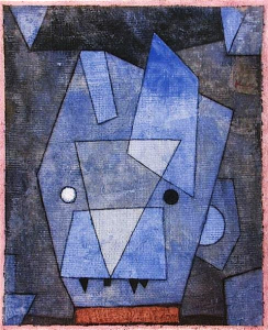 Kleiner blauer Teufel (Little Blue Devil), by Paul Klee