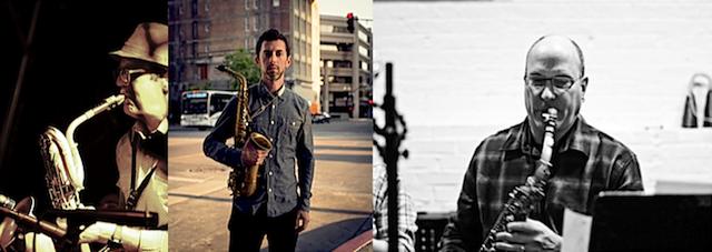 Horn of Plenty (L → R) Aaron Bennett, Aram Shelton, Jon Raskin