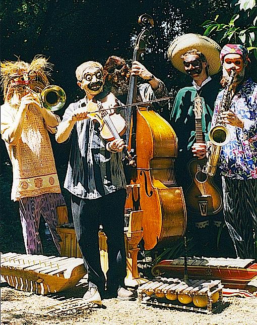 Opeye Quintet, forerunner of Envision Ensemble (L → R- Esten Lindgren, Brian Godchaux, Ben Lindgren, John Kuntz, Henry Kuntz)