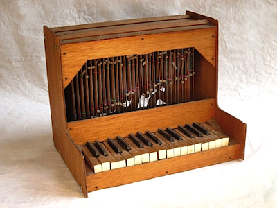 Bart Hopkin's invented instrument, the Disorderly Tumbling