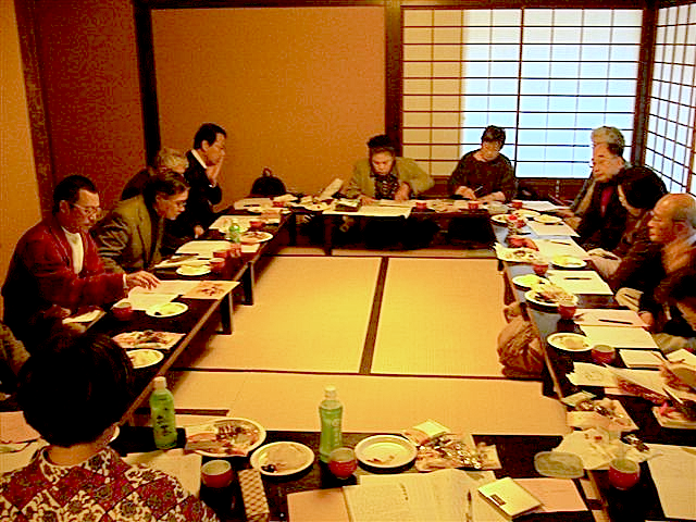 Modern Renga Banquet at the Shusuitei in the Kyoto Imperial Park (連歌の会席〜京都御苑内の拾翠亭にて)