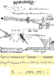 Score for Chekeré, Ⓒ by Bob LaDue