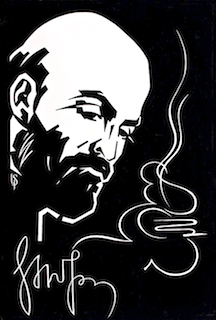 Portrait of Komitas (Կոմիտաս), 1969, by Tiraturyan Karapet (Կարապետ Տիրատուրյան)