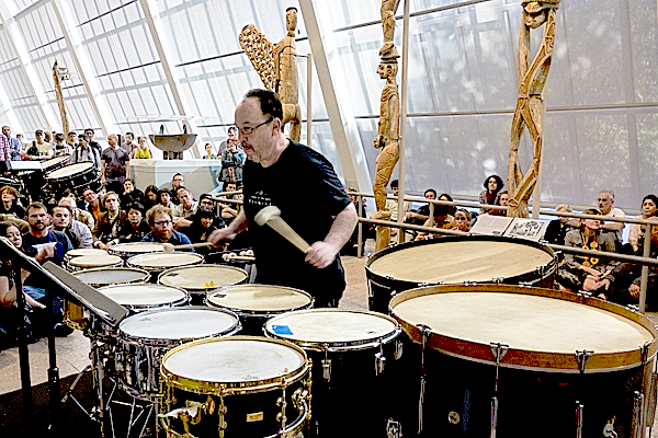 William Winant performing John Zorn's Gri Gri at the Metropolitan Museum, New York, 06 Sep 2013