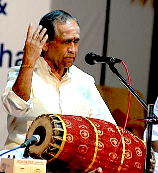 William Winant's Karnatic percussion guru, Trichy Sankaran (திருச்சி சங்கரன்)