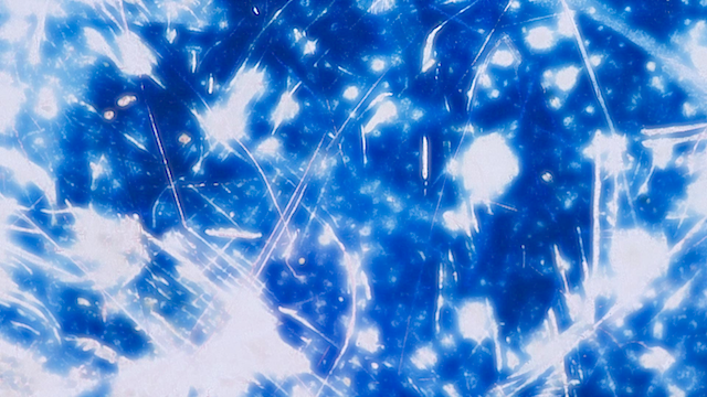 Phosphenes-Galaxy by Anna Geyer and Aaron F. Ross, 2010 (Film manipulation, After Effects)