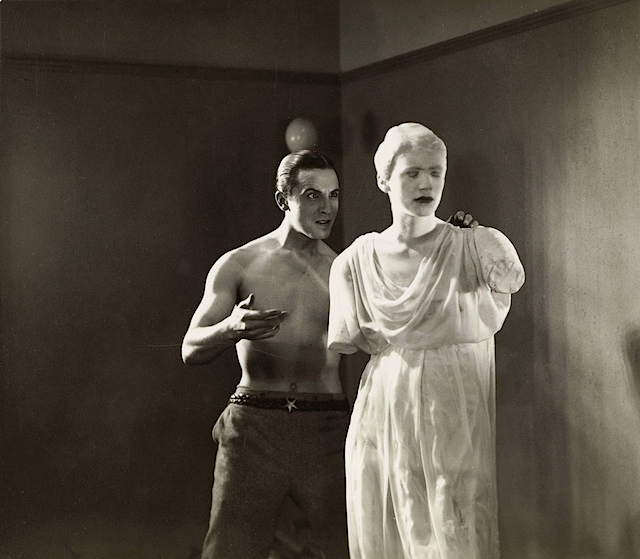 (L→R) Enrique Riveros & Lee Miller in Le sang d'un poète, by Jean Cocteau