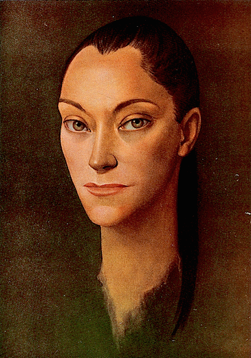 María Casares, who played the Dark Princess in Cocteau's Orphée, painting by Leonor Fini (1955) 520v 1.0
