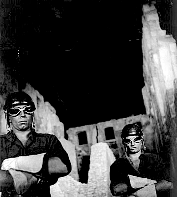 Underworld bikers as Angels of Death in Cocteau's Orphée