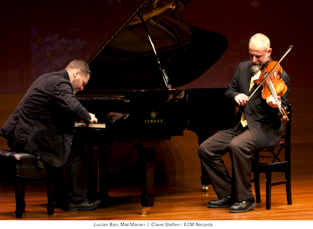 Lucian Ban (L) and Mat Maneri (R), © Claire Stefani / ECM Records