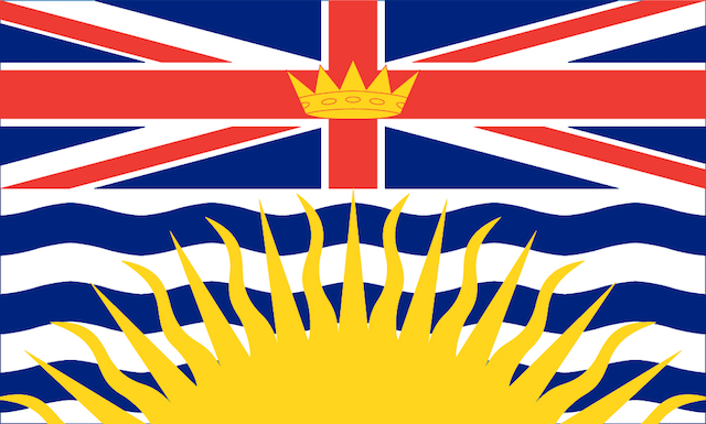 The flag of British Columbia